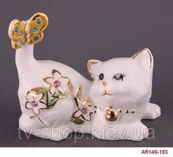 Статуэтка Кошка с бабочкой