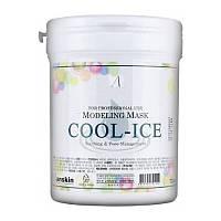 Альгинатная маска охлаждающая с экстрактом мяты ANSKIN COOL-ICE MODELING MASK, 240г(700 мл банка)