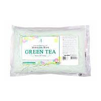 ANSKIN GREEN TEA MODELING MASK Альгинатная маска для лица с экстрактом зелёного чая, 240г.