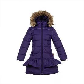 Зимнее термопальто для девочки 6-12 лет, р. 116-152 WHITNEY ТМ HUPPA фиолетовый 12460030-70073