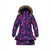 Зимнее термопальто для девочки 6-11 лет, р. 116-146 WHITNEY ТМ HUPPA фиолетовый 12460030-81653