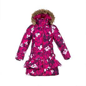 Зимнее термопальто р. 116-152 для девочки 6-12 лет WHITNEY ТМ HUPPA 12460030-81663