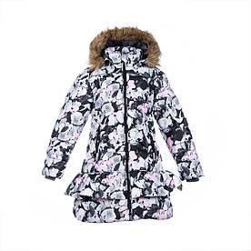 Зимнее термопальто для девочки 6-12 лет, р. 116-152 WHITNEY ТМ HUPPA 12460030-81620