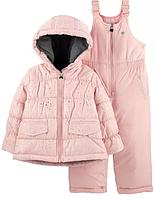 Зимний раздельный комбинезон OshKosh(США) розовый для девочки от 1 до 7 лет