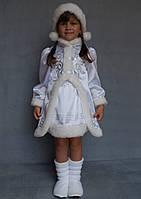 Премиум! Снегурочка Новогодние Костюмы для детей, Комплектация 4 Элемента, Размеры 5-6 лет, Украина