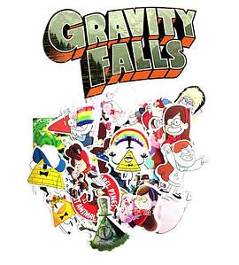 Виниловые стикеры наклейки набор  25 шт Гравити Фолз Gravity Falls