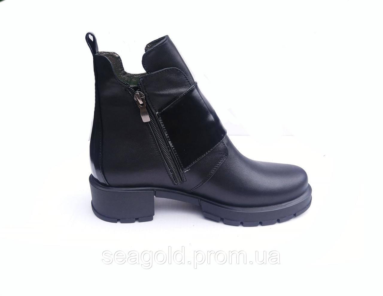 0ab5b7975a9f Женские зимние модные кожаные ботинки мод.