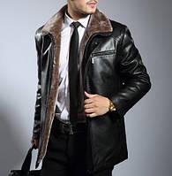 Мужская  зимняя дубленка. Модель 0418, фото 4