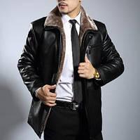 Мужская  зимняя дубленка. Модель 0418, фото 1