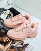 Женские зимние кроссовки Fila Disruptor II розовые с мехом, фото 5
