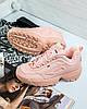 Женские зимние кроссовки Fila Disruptor II розовые с мехом, фото 6