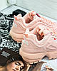 Женские зимние кроссовки Fila Disruptor II розовые с мехом, фото 8
