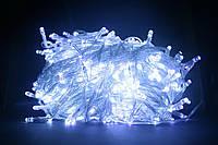 Светодиодная гирлянда нить 500 LED (цвет - холодный белый) прозрачный провод 32м