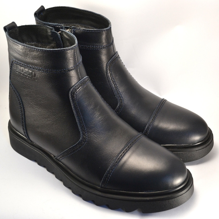 Ботинки зимние мужские челси кожаные Rosso Avangard Danni Ridge Night Blu темно-синие