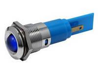 Индикатор светодиодный 16 мм синий 220 AC 19400237М