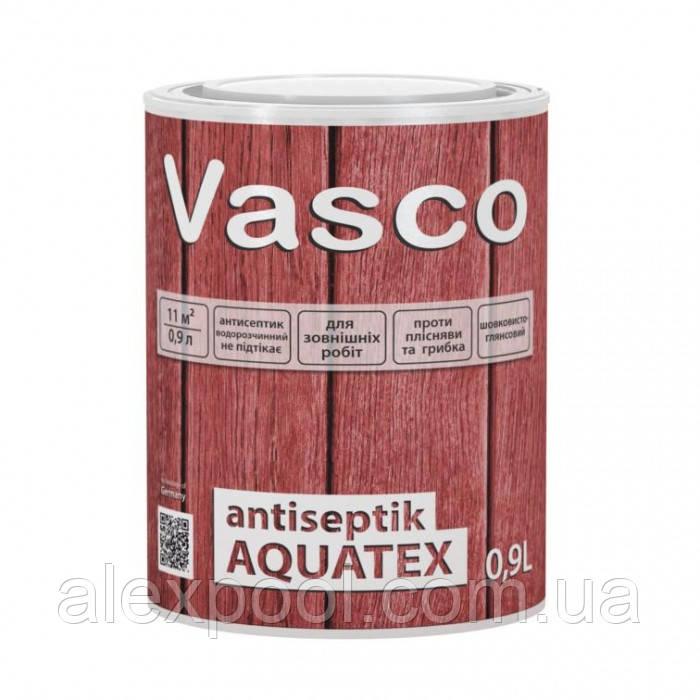 Vasco antiseptik AQUATEX в кольорі 0,9 л просочення-антисептик для деревини для зовнішніх робіт