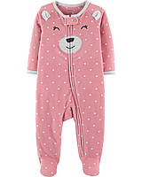 Флисовый человечек слип Мишутка Картерс Carter's Bear Zip-Up Fleece Sleep & Play
