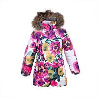 Зимняя термо куртка для девочки 8,10,11 лет, р. 128, 140, 146 ROSA 1 ТМ HUPPA 17910130-81720