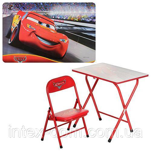 """Детский складной столик со стульчиком DT 18 С, """"Тачки"""""""