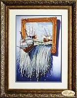 """Набор для вышивания 44х30см с чешским бисером """"Море в картине"""""""