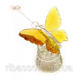 Бабочка хрустальная на подставке 8х5х4,5 см 22786