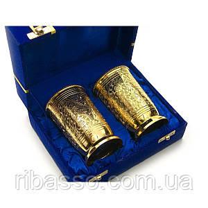 Бокалы бронзовые позолоченые н-р 2 шт/300мл. h-11см 19х15х8 см 26770