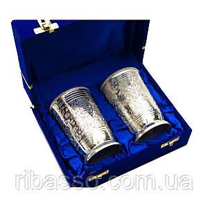 Бокалы бронзовые посеребренные н-р 2 шт h-11см 19х15х8 см 26769