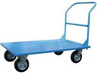 Тележка платформенная 250 литые колеса, фото 1