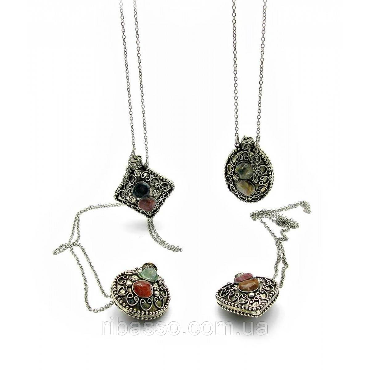 Аромакулон бронзовый с камнями 5х4,5х2 см 21815