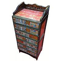 Комод с тибетским орнаментом металлические направляющие 80x45x30см. 29201