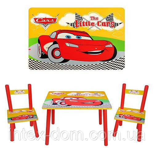Набор детской мебели Столик + 2 стульчика «Тачки» M 0292 КИЕВ
