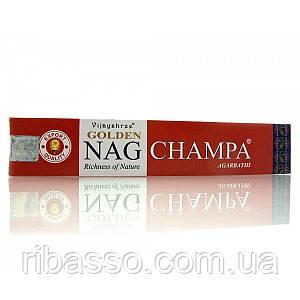 Golden Nag Champa Vijashree 12 шт/уп 15 гр.пыльцовые благовония 23482