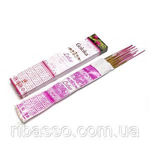 Lotus Лотос 15 gms 12 шт/уп Goloka пыльцовое благовоние 29348