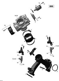 Воздухозаборник и корпус дроссельной заслонки