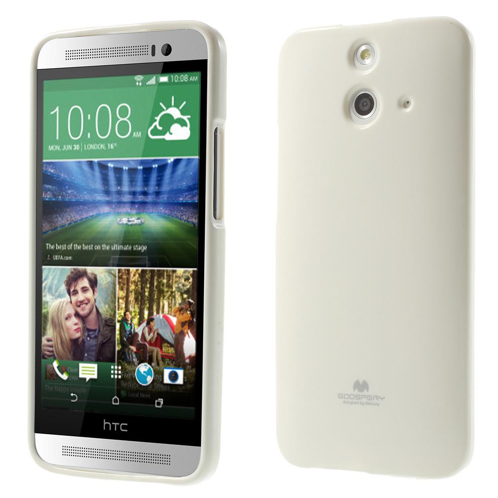 Чехол накладка силиконовый TPU Mercury для HTC One E8 Dual белый