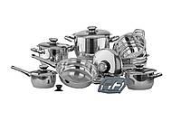 Набор посуды Vinzer Grand Senior 16 предметов нержавейка (89023 Vinzer)