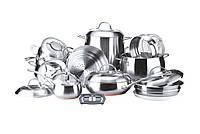 Набор посуды Vinzer Grand Majestic 19 предметов нержавейка (89036 Vinzer)