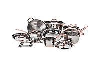 Набор посуды Vinzer Royal 15 предметов нержавейка (89042 Vinzer)