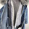 Парка женская зимняя джинсовая, фото 6