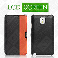 Чехол iCarer для Samsung Galaxy Note 3 Colorblock Black/Orange (side-open) (RS900002)