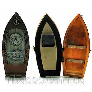 """Ключница с часами """"Лодка"""" 29х14х8 см 18944"""
