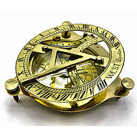 Солнечные часы с компасом бронзовые 15 Х 15 см. 18241