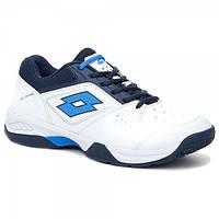 Кроссовки теннисные мужские Lotto T-TOUR 600 XI  WHITE/BLUE OVER T6402