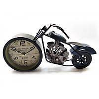 """Часы настольные """"Мотоцикл"""" синие 28х15х7,5 см 32191A"""