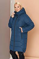 Зимняя удлиненная куртка-парка стеганная с 46 по 60 размер
