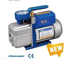 Вакуумный насос ( две ступени )VALUE  NEW  VI  240- R32  ( 2х ступ. 100  л/мин ) с манометром горизонт