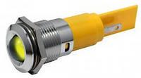 Индикатор светодиодный 16 мм желтый 220 AC  19400232M