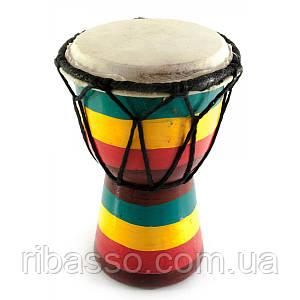 """Барабан джембе """"Раста"""" дерево с кожей 15х9,5х9,5 см 30247"""
