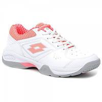 Кроссовки теннисные женские Lotto T-TOUR 600 XI W WHITE ROSE NEON T6424 2a0bfd20c8a