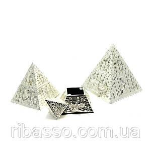 """Шкатулки """"Пирамиды"""" металл н-р 3 шт 10х9х9/8х7х7/6,5х6х6 см 27199"""